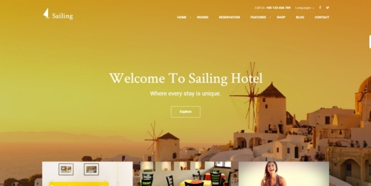 Sailing wordpress templete