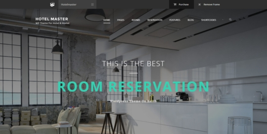 hotel master wordpress templete