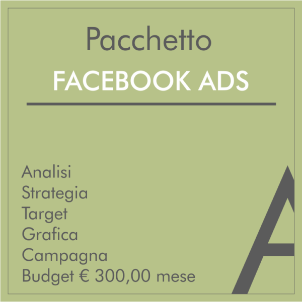 Pacchetto Facebook Ads