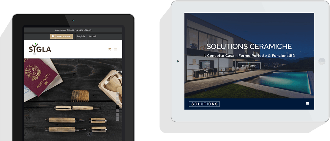 Sito Web vista Tablet